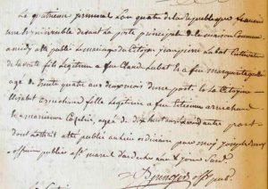 Publication de mariage de Jean Pierre Lubat et Elizabeth Arnichand