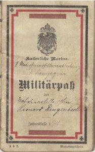 carnet militaire de l'empire allemand