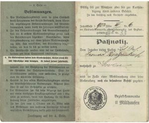 carnet militaire alsacien
